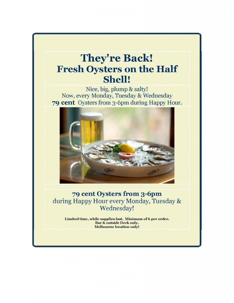 Oysters are Back 020915